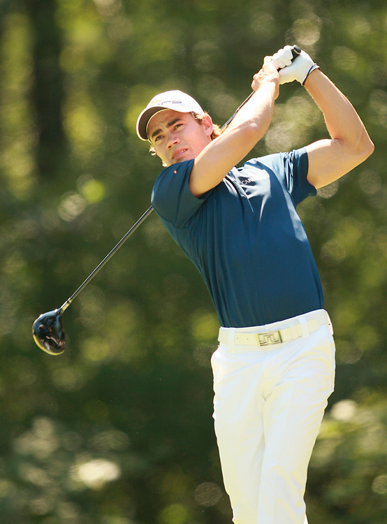 Camilo Villegas during the fourth round of the 2007 Deutsche Bank Championship in Norton, Massachusetts at TPC of Boston on Monday, September 3, 2007. Photograph by Darren Carroll..