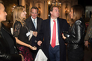ROXANNA GURYSEK-GEDIR; PADDY DINGWALL; LORD HARRY DALMENY; CLAUDIA BERGMAN, The preview of LAPADA Art and Antiques Fair. Berkeley Sq. London. 21 September 2015.