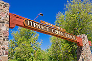 Sign at Furnace Creek Ranch, Death Valley National Park. California