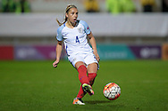 Steph Houghton (C) (England) during the Euro 2017 qualifier between England Ladies and Belgium Ladies at the New York Stadium, Rotherham, England on 8 April 2016. Photo by Mark P Doherty.