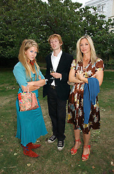 Left to right, FREYA WOOD, MATTHEW BELL and LADY LIZA CAMPBELL at a party to celebrate the publication of Notting Hell by Rachel Johnson held in the gardens of 1 Rosmead Road, London W11 on 4th September 2006.<br /><br />NON EXCLUSIVE - WORLD RIGHTS