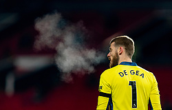 MANCHESTER, ENGLAND - Friday, January 1, 2020: Manchester United's goalkeeper David de Gea during the New Year's Day FA Premier League match between Manchester United FC and Aston Villa FC at Old Trafford. The game was played behind closed doors due to the UK government putting Greater Manchester in Tier 4: Stay at Home during the Coronavirus COVID-19 Pandemic. (Pic by David Rawcliffe/Propaganda)