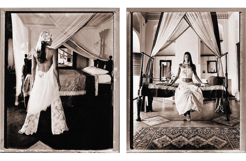 Editorial work for Marie Claire magazine.<br /> Shot at Zanzibar, Tanzania.