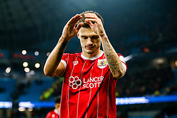 Jamie Paterson of Bristol City comes off the pitch after Manchester City win 2-1 in added time - Rogan/JMP - 09/01/2018 - Etihad Stadium - Manchester, England - Manchester City v Bristol City - Carabao Cup Semi Final First Leg.