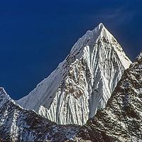 A mountain in the Khumbu region of Nepal's Himalaya.