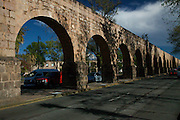 View the ancient Aqueduct in Morelia, Mexico.The city is a UNESCO World Heritage Site and hosts one of the best preserved collection of Spanish Colonial architecture in the world.