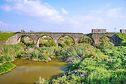 A train bridge over the Tabor river. Built in 1904 by the Turks during the Ottoman rule for the now obsolete valley railroad from Haifa to Damascus.