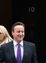 Prime Minister David Cameron leaves No.10 Downing Street on Budget Day, London, United Kingdom. Wednesday, 19th March 2014. Picture by Nils Jorgensen / i-Images