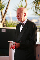 Alain Sarde (for Jean-Luc Godard) with the Jury Prize (ex-aequo) for the film Adieu au langage (Goodbye to Language) at the Palme d'Or winners photo call at the 67th Cannes Film Festival, Saturday 24th May 2014, Cannes, France.