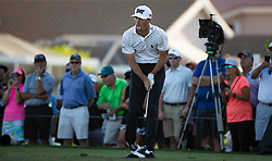 February 28, 2019 - Palm Beach Gardens, Florida, U.S. - Billy Horschel reacts to his tee shot on the par 3, 15th hole during the first round of the Honda Classic Thursday at PGA National Resort and Spa in Palm Beach Gardens, February 28, 2019. (Credit Image: © Allen Eyestone/The Palm Beach Post via ZUMA Wire)