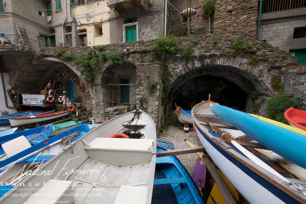 Seaside fishing village of  Riomaggiore, Italy