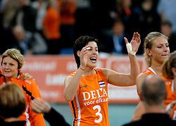 11-11-2007 VOLLEYBAL: PRE OKT: NEDERLAND - AZERBEIDZJAN: EINDHOVEN<br /> Nederland wint ook de de laatste wedstrijd. Azerbeidzjan verloor met 3-1 / Francien Huurman<br /> ©2007-WWW.FOTOHOOGENDOORN.NL