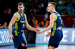 Goran Dragic of Slovenia and Klemen Prepelic of Slovenia during basketball match between National Teams of Slovenia and Spain at Day 15 in Semifinal of the FIBA EuroBasket 2017 at Sinan Erdem Dome in Istanbul, Turkey on September 14, 2017. Photo by Vid Ponikvar / Sportida