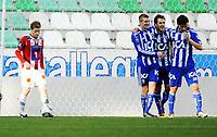 Fotball , 28. januar 2011, Copa del Sol , <br /> Tromsø - IFK Göteborg 0-2<br /> <br /> Jubel av Tobias Hysen (7) og Elmar Bjarnason , IFK og Karl Svensson (2)<br /> Bak: Tom Høgli , TIL