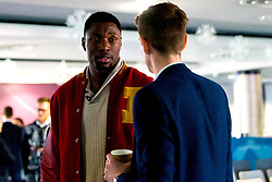 Daniel Edozie of Bristol Flyers chats with guests as Bristol Sport hosts their monthly networking breakfast event at Ashton Gate Stadium with guest speaker Adrian Webster - Mandatory by-line: Robbie Stephenson/JMP - 16/12/2016 - SPORT - Ashton Gate Stadium - Bristol, England - Big Sports Breakfast December