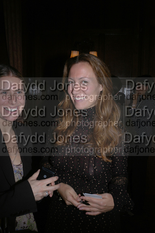 Millicent Wilner and Diana Widmaier Picasso. Book launch for ' Picasso: Art Can Only Be Erotic' by diana Widmaier Picasso. American Bar at the Connaught. Carlos Place. London W1.  October 11 2005. ONE TIME USE ONLY - DO NOT ARCHIVE © Copyright Photograph by Dafydd Jones 66 Stockwell Park Rd. London SW9 0DA Tel 020 7733 0108 www.dafjones.com