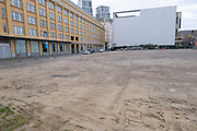 Empty plot of land on Upper Ground near the South Bank on 13th April 2021 in London, United Kingdom. With real estate being at an absolute premium for investors, and property developers, it seems strange that this site has been empty for years.