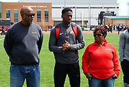 COLUMBUS – Ohio State Jesse Owens Classic this Friday and Saturday at the Jesse Owens Memorial Stadium.Nick Gray is featured in images 215-2, 220-2, 232-2, 360-2, 364-2, 367,<br /> 369-2, and 371-2. He is a senior from Pickerington, Ohio. He has a major in Biology. Nick recently ran a 10.17 in the 100 meter dash. This broke the school record of 10.2 set by Jesse Owens in 1936.