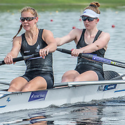 Ruby Willis & Grace Holland - NZ U23 Womens Coxless Pair<br /> <br /> Compete at the FISA U23 Worlds on Saturday 27 July 2019 at Nathan Benderson Park, Sarasota, Florida, USA © Copyright photo Steve McArthur / www.photosport.nz