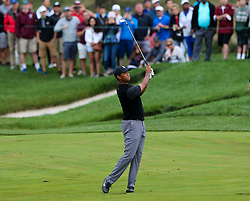 September 8, 2018 - Newtown Square, Pennsylvania, United States - Tiger Woods hits a fairway shot on the 11th hole during the third round of the 2018 BMW Championship. (Credit Image: © Debby Wong/ZUMA Wire)
