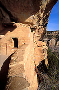 Window and balcony at Balcony House Ruin, Mesa Verde National Park (World Heritage Site), Colorado.