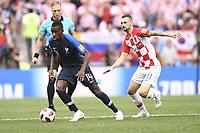14 BLAISE MATUIDI (FRA) - 11 MARCELO BROZOVIC (CRO)<br /> <br /> SOCCER : France vs Croatia - World Cup 2018 - Final - 07/15/2018<br /> Frankrike - Kroatia<br /> <br /> Norway only