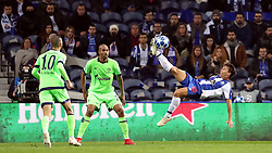 PORTO, Nov. 29, 2018  Oliver Torres (R) of Porto tries an acrobatic shot during the UEFA Champions League Group D soccer match between FC Porto and Schalke 04 at Dragon Stadium in Porto, Portugal, on Nov. 28, 2018. Porto won 3-1. (Credit Image: © Xinhua via ZUMA Wire)
