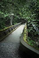 Stone bridge over Whatcom Creek and Falls, Whatcom Falls Park, Bellingham Washington