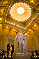 Statue of George Washington in the Rotunda of the Virginia State Capitol, Richmond, Virginia USA