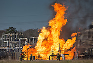 Feb 10, Paradis, LA, The fire at the site where the Phillips 66 pipeline exploded on Feb. 9, still burning the next day. One worker is presumed dead.