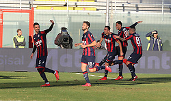 December 17, 2017 - Crotone, KR, Italy - Ante Budimir of Crotone celebrates after scoring the opening goal during the Serie A match between FC Crotone and AC Chievo Verona at Stadio Comunale Ezio Scida on December 17, 2017 in Crotone, Italy. (Credit Image: © Gabriele Maricchiolo/NurPhoto via ZUMA Press)