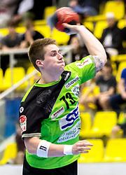 27.04.2018, BSFZ Suedstadt, Maria Enzersdorf, AUT, HLA, SG INSIGNIS Handball WESTWIEN vs Bregenz Handball, Viertelfinale, 1. Runde, im Bild Viggo Kristjansson (SG INSIGNIS Handball WESTWIEN) // during Handball League Austria, quarterfinal, 1 st round match between SG INSIGNIS Handball WESTWIEN and Bregenz Handball at the BSFZ Suedstadt, Maria Enzersdorf, Austria on 2018/04/27, EXPA Pictures © 2018, PhotoCredit: EXPA/ Sebastian Pucher