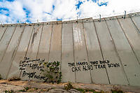 The Jerusalem Security Wall (part of the Israeli West Bank security barrier), Jerusalem, Israel.