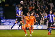 Sheffield Wednesday defender Morgan Fox (6) heads the ball during the The FA Cup 3rd round replay match between Luton Town and Sheffield Wednesday at Kenilworth Road, Luton, England on 15 January 2019.