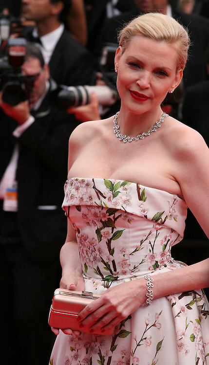 Nadja Auermann at the the Grace of Monaco gala screening and opening ceremony red carpet at the 67th Cannes Film Festival France. Wednesday 14th May 2014 in Cannes Film Festival, France.