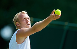 LONDON, ENGLAND - Wednesday, June 24, 2009: Stefan Koubek (AUT) during his Gentlemen's Singles 2nd Round match on day three of the Wimbledon Lawn Tennis Championships at the All England Lawn Tennis and Croquet Club. (Pic by David Rawcliffe/Propaganda)