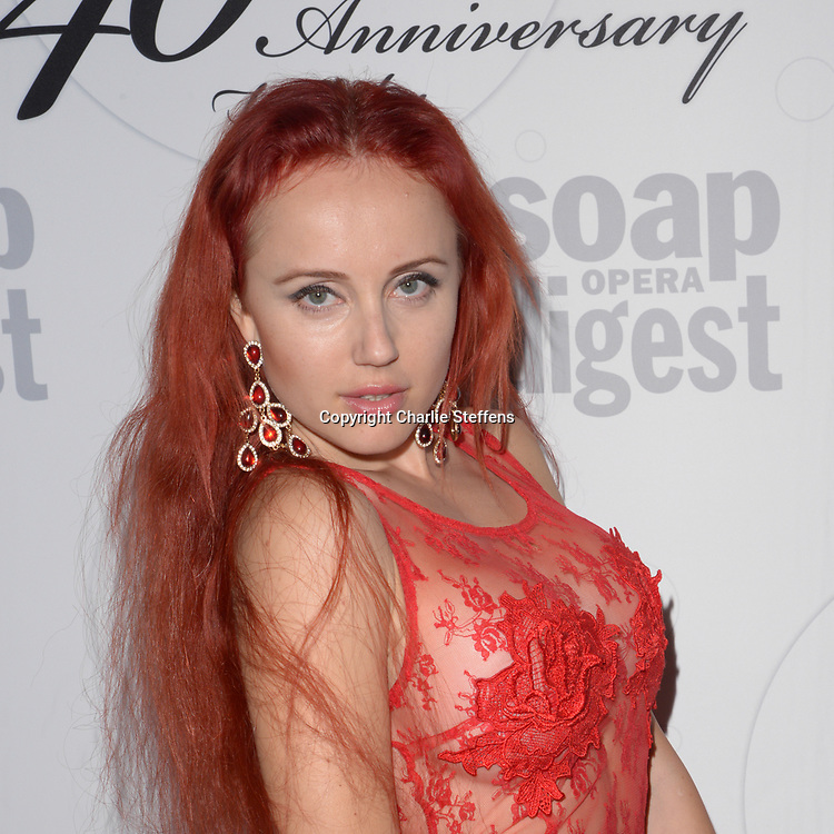 LILIAN LEV at Soap Opera Digest's 40th Anniversary party at The Argyle Hollywood in Los Angeles, California