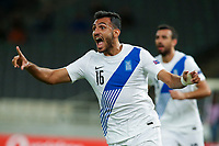 ATHENS, GREECE - OCTOBER 14: Vangelis Pavlidisof Greece during the UEFA Nations League group stage match between Greece and Kosovo at OACA Spyros Louis on October 14, 2020 in Athens, Greece. (Photo by MB Media)