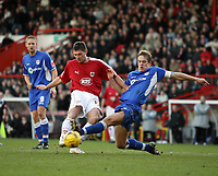 Photo: Rich Eaton.<br /> <br /> Bristol City v Millwall. Coca Cola League 1. 16/12/2006. Phil Jevons left of Bristol has his shot blocked by Chris Zebroski right of Millwall