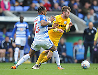 Preston North End's Tom Barkhuizen is fouled by Reading's Liam Moore<br /> <br /> Photographer Kevin Barnes/CameraSport<br /> <br /> The EFL Sky Bet Championship - Reading v Preston North End - Saturday 7th April 2018 - Madejski Stadium - Reading<br /> <br /> World Copyright © 2018 CameraSport. All rights reserved. 43 Linden Ave. Countesthorpe. Leicester. England. LE8 5PG - Tel: +44 (0) 116 277 4147 - admin@camerasport.com - www.camerasport.com