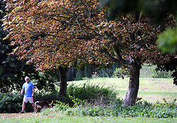 © Licensed to London News Pictures. 26/09/2013<br /> Autumn Weather in Kent today (26.09.2013)<br />  The sunny autumn weather at Footscray Meadows,Sidcup,Kent.<br /> Photo credit :Grant Falvey/LNP