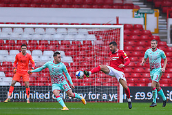 Miguel Angel Guerrero of Nottingham Forest controls the ball in the visitor's box - Mandatory by-line: Nick Browning/JMP - 29/11/2020 - FOOTBALL - The City Ground - Nottingham, England - Nottingham Forest v Swansea City - Sky Bet Championship