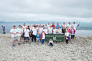 22/06/2014 <br /> Climbers  who climbed the  765 metre Croagh Patrick in Mayo as part of the 30th Anniversary Celebrations of  Self Help Africa and to support the work of Self Help Africa in 10 countries in Africa. Photo: Andrew Downes