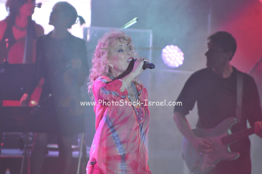 Riki Gal an Israeli singer vocalist during a joint performance with Matti Caspi