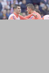 February 9, 2019 - Madrid, Madrid, Spain - Alvaro Morata of Atletico Madrid during the warm-up before the week 23 of La Liga between Atletico Madrid and Real Madrid at Wanda Metropolitano stadium on February 09 2019, in Madrid, Spain. (Credit Image: © Jose Breton/NurPhoto via ZUMA Press)