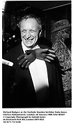 Richard Rodgers at the Nathalie Hambro birthday Dada dance. Chelsea Embankment. London. 28 January 1988. Film 8836f7<br />© Copyright Photograph by Dafydd Jones<br />66 Stockwell Park Rd. London SW9 0DA<br />Tel 0171 733 0108