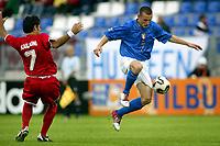 Fotball <br /> FIFA World Youth Championships 2005<br /> Nederland / Holland<br /> Foto: ProShots/Digitalsport<br /> <br /> italia - syria, tilburg, 15-06-2005<br /> <br /> marino defendi en meaataz kailouni
