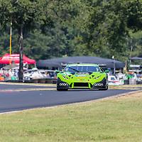 Alton, VA - Aug 26, 2016:  The Change Racing Lamborghini Huracan GT3 races through the turns at the Michelin GT Challenge at VIR at Virginia International Raceway in Alton, VA.