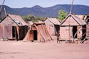 Africa, Madagascar, wood hunts in a village