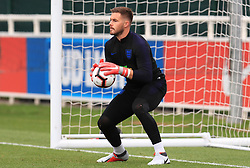 England goalkeeper Jack Butland during a press conference at The King Power Stadium, Leicester. PRESS ASSOCIATION Photo. Picture date: Monday September 10, 2018. See PA story SOCCER England. Photo credit should read: Mike Egerton/PA Wire. RESTRICTIONS: Use subject to FA restrictions. Editorial use only. Commercial use only with prior written consent of the FA. No editing except cropping.